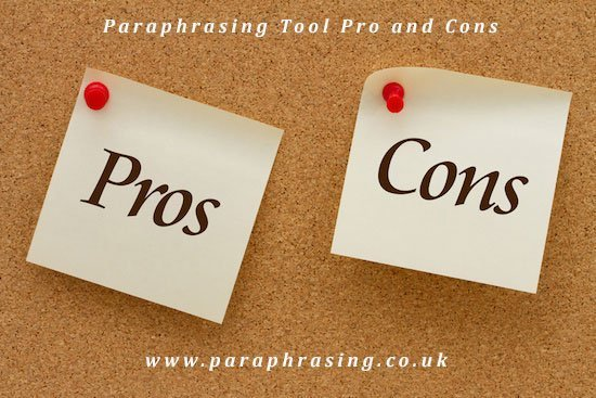Paraphrasing Tool Pros & Cons